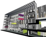 Cutaway model of the Abercrombie Building © Design Engine